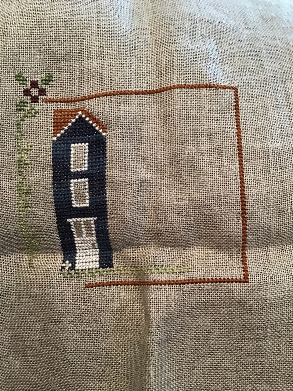 I am working on Little House Needleworks May.  It is part of a series.