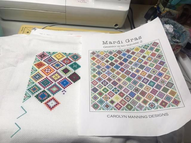 Its been a little while, but today I got out my Granny is No Square 2 and worked on it for a bit. I have been working on some smalls and doing some finishing.
