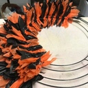 Ok so I am done decorating for Halloween. These wreaths are so easy to make and only cost 3.00. If anyone is interested in knowing how to make these just contact me here and I will send you the link for the you tube video. I plan on making one for Christmas in the next few weeks. Happy Halloween.