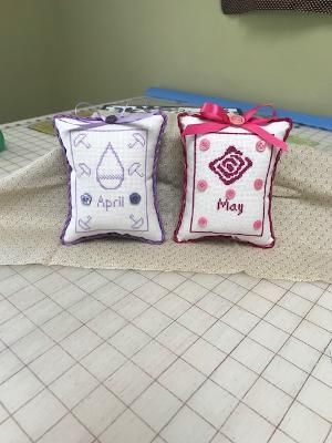 I am all caught up on the ones I have stitched. They are so quick and fun. April and May