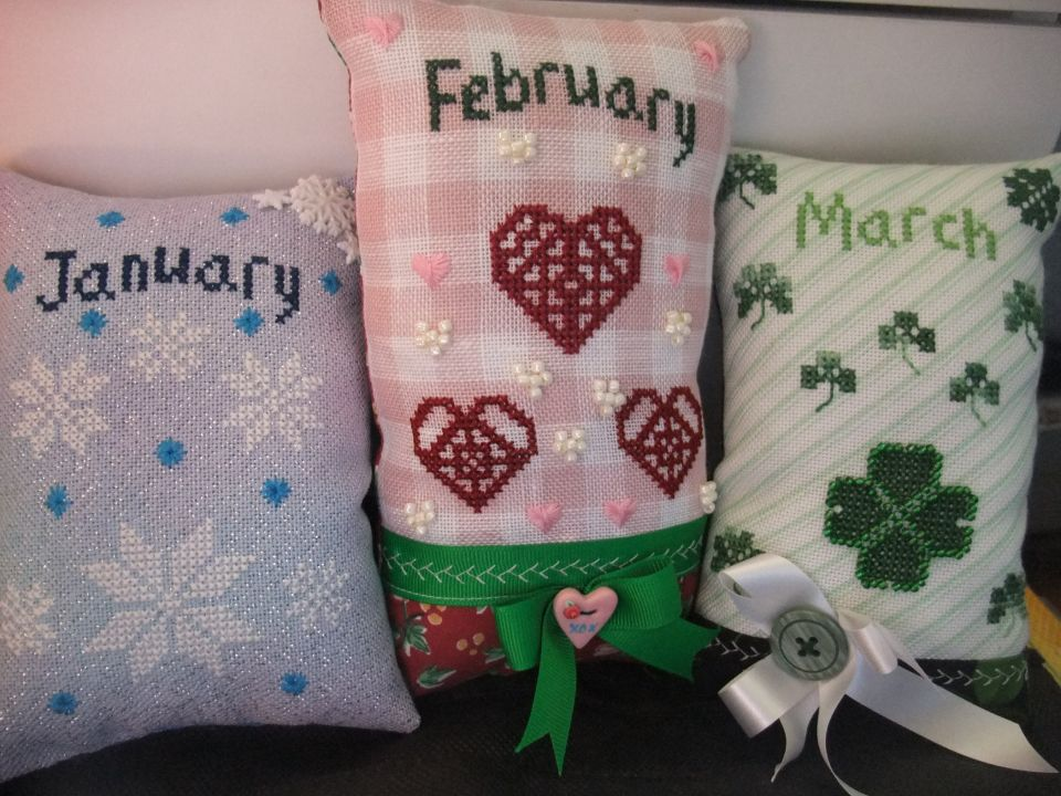 January, February and March - stitched and finished