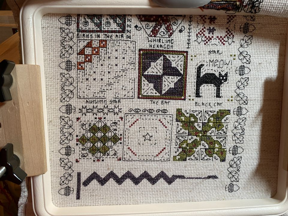 Working on Rosewood Manors Halloween Quilt Sampler