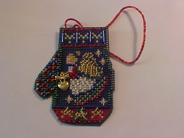 MillHill  Charmed Mitten<br />Angel Heart<br />Perforated Paper<br />DMC threads
