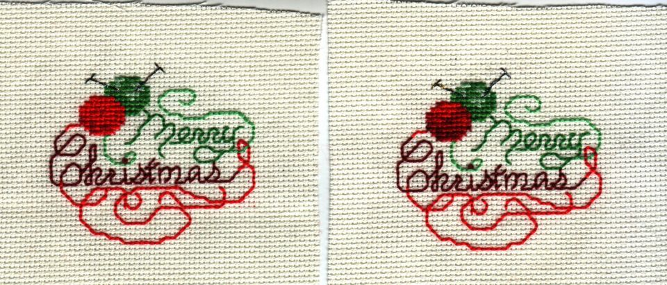 First group of Christmas ornie stitching