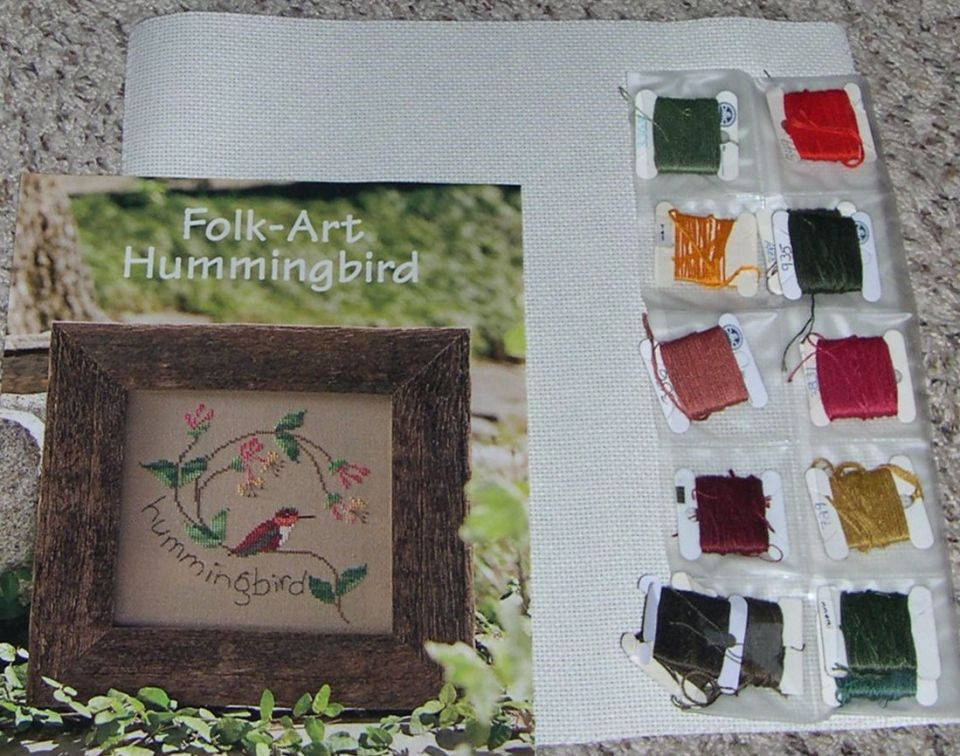 Folk-Art HummingbirdDesigned by Cathy Coombes14 count aidaDMC FlossHopefully this will be a joy to stitch for the 2020 Monthly Community Ladies Luncheon Birthday gifts