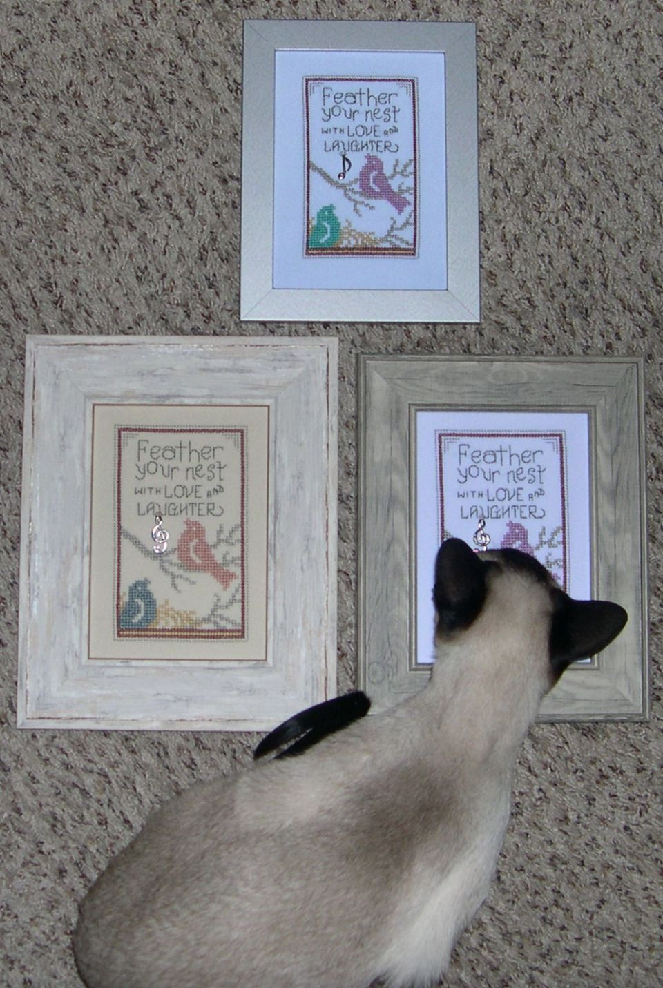 Added charms and 5 X 7 frames from Hobby Lobby