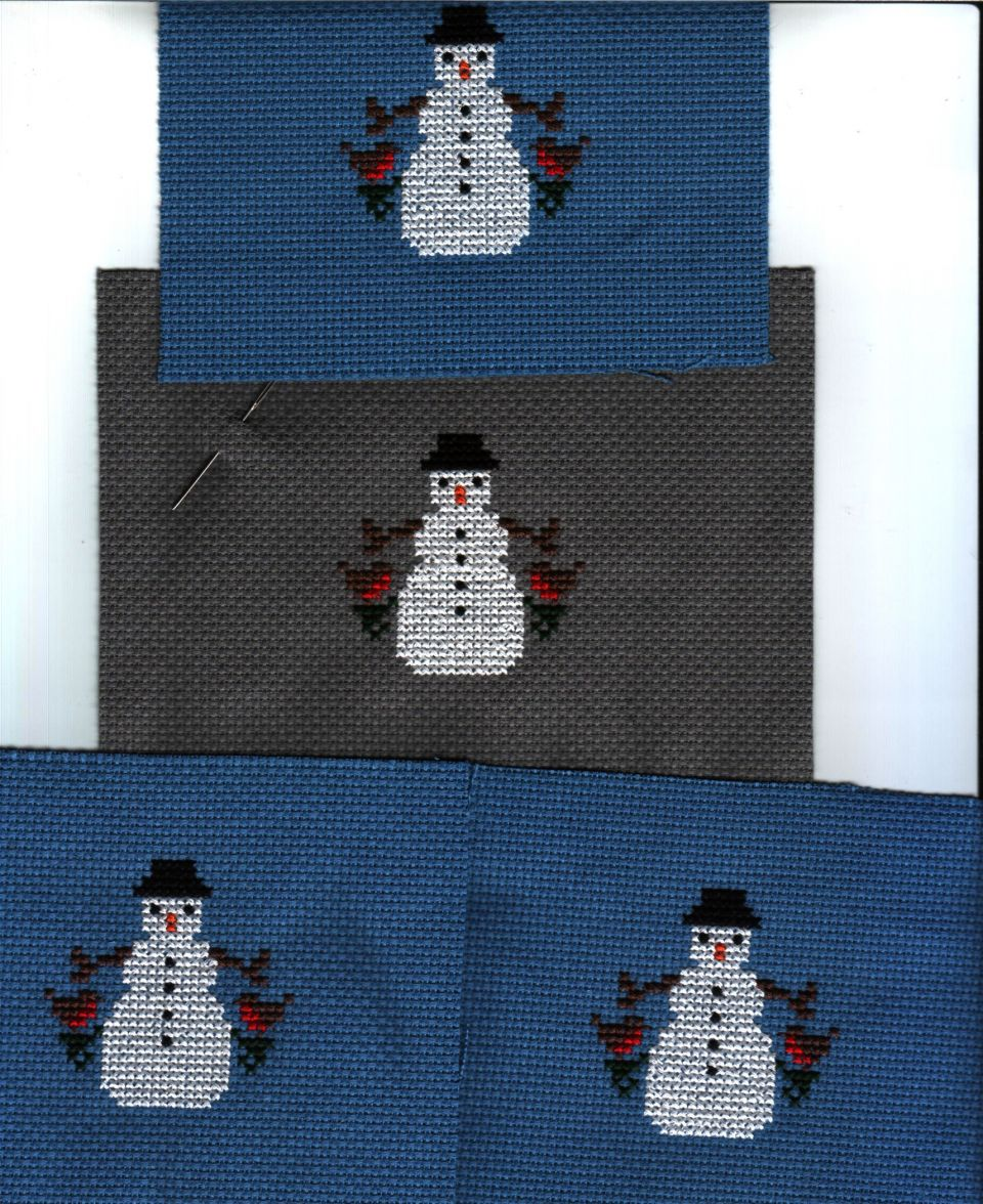 4 more Christmas Ornies stitched