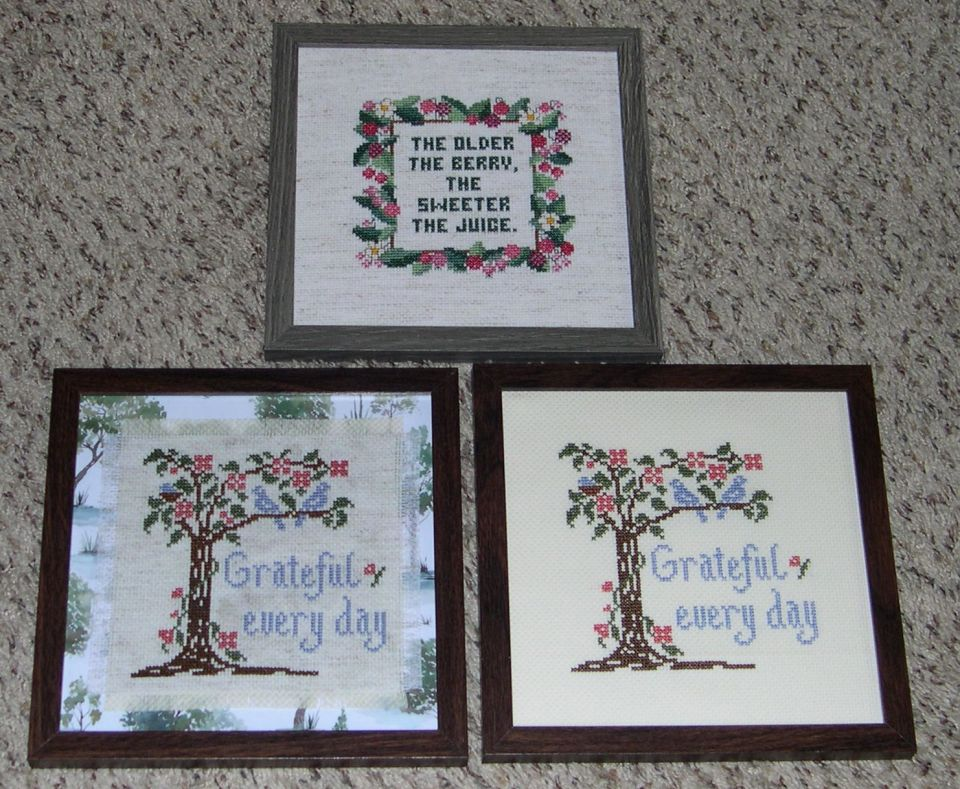 Another snowed in day....these 8 X 8 frames came from Hobby Lobby.  The one behind glass ... I had to be very crafty since the fabric was too small to stretch ....so I found a nice printed paper(less expensive then matt) and glued it onto a white board then pressed it under glass