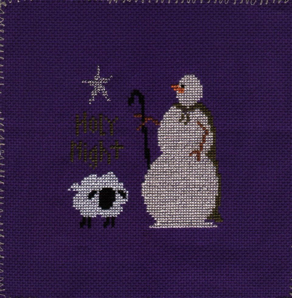 """""""Holy Night"""" by Patti Connor of SamSarah Design Studio INCover one on 22 countfinish size is about 2 1/2 X 2 1/2I have a coaster  that it could finish in....or might go out into the stores to find a better frame"""